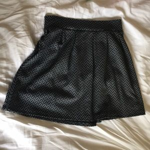 Black and gray chevron skirt